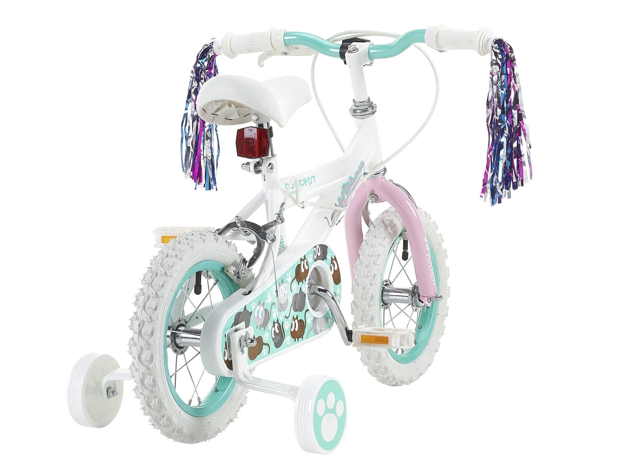 Coyote Kids Bike Replacement Padded Comfort Saddle Boys Girls White Saddle Clip