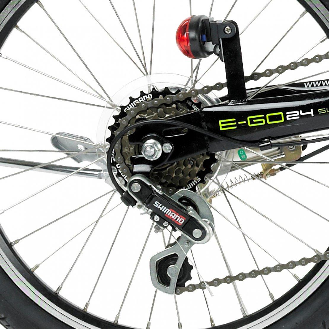 Viking E Go 6 Speed 20 Wheel Alloy Folding Electric Bike Black Evo 24v Wiring Diagram Prev